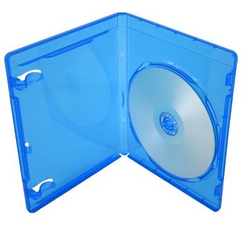 Obal na CD/DVD {plastová krabička} (Blu-ray) - modrá
