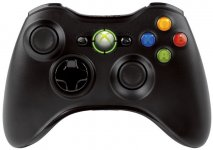 Microsoft XBOX 360 Wireless Controller Black- OEM